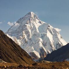 is the second-highest mountain on earth at feet meters). Called the Holy Grail of mountain-climbing by Ed Viesturs, is often considered the most dangerous mountain on Earth. Monte Everest, Seen, Mountain Climbing, Mountain Landscape, Top Of The World, Climbers, Trekking, Places To See, Scenery
