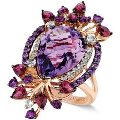Le Vian Crazies Collection Multistone Ring in 14k Strawberry Rose Gold (8 ct…