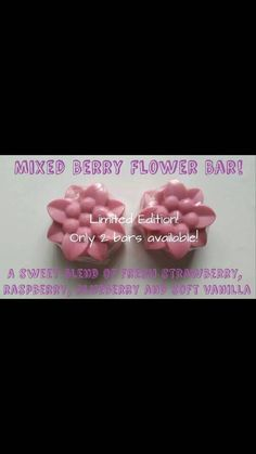 Hey, I found this really awesome Etsy listing at https://www.etsy.com/listing/247520448/mixed-berry-flower-bars-flower-bar-soap