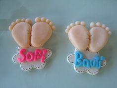 ideas for baby shower souvenirs porcelana fria Baby Shower Pasta, Baby Boy Shower, Fimo Clay, Polymer Clay Crafts, Baby Showers, Baby Shower Parties, Shortbread Cake, Baby Shower Souvenirs, Shower Bebe