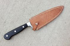 Leather Knife Sheath for Chef's Knife by EvanDaileyCraftsman, $40.00
