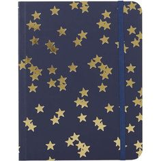 TOPSHOP Star Notebook (£7) ❤ liked on Polyvore featuring home, home decor, stationery, objects, star and navy blue
