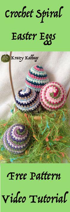 Crochet Spiral Easter Eggs – Krazykabbage