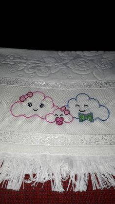 Your place to buy and sell all things handmade Cross Stitch Family, Cross Stitch Baby, Cross Stitch Flowers, Towel Embroidery, Hand Embroidery Designs, Cross Stitch Designs, Cross Stitch Patterns, Cross Stitching, Cross Stitch Embroidery