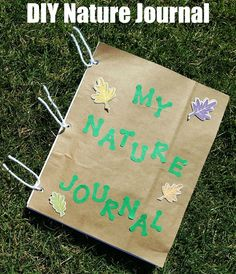 How To Make A Nature Journal For Kids {Writing Prompts Included} - okul öncesi - DIY Nature Journal for kids (with writing prompts) - Journal Prompts For Kids, Writing Prompts For Kids, Kids Writing, Journal Ideas, Nature Activities, Craft Activities, Summer Activities, Indoor Activities, Family Activities
