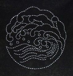 wave-sashiko. I'm beginning to fall in love with sashiko and Sylvia Pippen's work is heart-stoppingly beautiful.