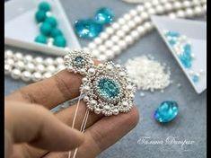 #МК - Серьги из бусин и бисера   #Tutorial - Earrings of seed beads and beads - YouTube