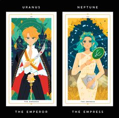 "Prints of my Sailor Scout Tarots! Each tarot is 4.3"" x 8"" and is printed on heavy cardstock with a matte finish. There is an option to..."
