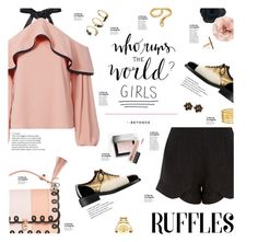 """""""Who Run The World?"""" by happilyjynxed ❤ liked on Polyvore featuring Alexis, Chanel, Madina Visconti di Modrone, Fendi, Meli Melo, Ileana Makri, Chico's, Kenneth Jay Lane, Cara and Movado"""