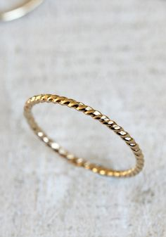 Twisted wire ring solid 14k gold rope ring by PraxisJewelry