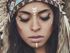 1001 good ideas for # eyeliner # eyemakeup # beauty # mascara Indian Makeup Halloween, Diy Indian Makeup, Make India, India India, Prom Makeup, Eye Makeup, Beauty Makeup, Bohemian Makeup, Hippie Makeup