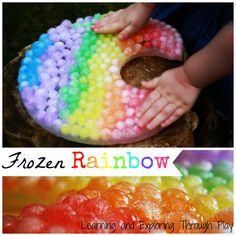 Learning and Exploring Through Play: Sensory Waterbead Ice Rainbow