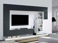 Tv Feature Wall, Rak Tv, Tv Walls, Ikea Ideas, Tv Cabinets, Apartment Ideas, Living Room, Interior, Modern