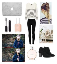 """Rainy day with Taehyung"" by bts-outfit-imagines on Polyvore featuring MANGO, Free People, Essie, Chanel, Wolford and Aquatalia by Marvin K."