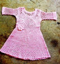 Custom crochet girls dress by beijobaby on Etsy