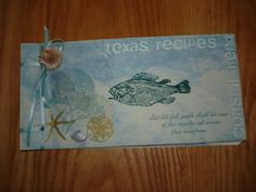 Cover of handmade recipe book by D. Perenick