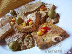 Bylinkové tofu v olivové marinádě - Tofu, Tempeh, Seitan, French Toast, Breakfast, Breakfast Cafe