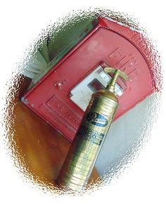 Antique Pyrene Copper Fire Extinguisher 1 Quart by queenbeecanada