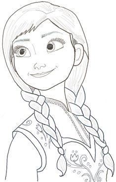 Today I will show you how to draw Princess Anna (as a teenager). She is more complex than a lot of the cartoon tutorials that we publish on this site, so don't feel bad if it is too hard for you.