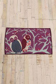 2x3 Owl Couple Printed Cotton Rug