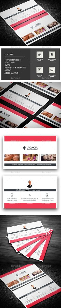 Spa/Photography Business Card Design Template - Corporate Business Card Template Vector EPS, Ai Illustrator. Download here: https://graphicriver.net/item/spaphotography-business-card/17681696?ref=yinkira