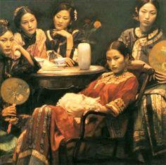 painting of Chinese women