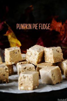 Pumpkin pie fudge (!!!)
