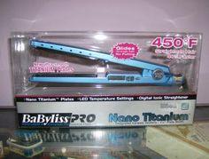 Top quality straightening iron Babyliss Pro Nano Titanium.