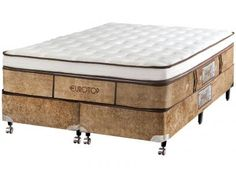 Cama Box Queen Size (Box + Colchão) Castor Mola - Pocket Eurotop Supreme com as melhores condições você encontra no Magazine Jsantos. Confira!