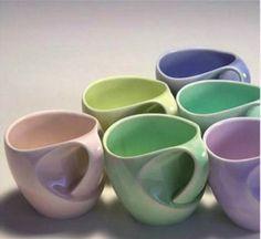 pastel mugs with ergonomic handles
