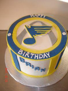 Laura Lynn S Creative Cakes Cookies More Blue Birthday Cakes Hockey Birthday Cake Hockey Cakes