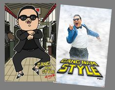 Psy GANG NAM STYLE Two Poster Combo Special Set - Korean Pop Sensation ~ Available at www.sportsposterwarehouse.com