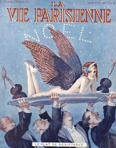 Georges Léonnec (1881 – 1940).  Le Plat de Résistance. La Vie Parisienne, 10 Décembre  1932. [Pinned 23-vii-2015]