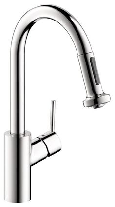 products kitchen kitchen fixtures kitchen faucets hansgrohe talis spray higharc kitchen faucet pull