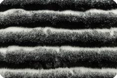 Wild Chinchilla Fur Black/White
