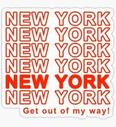 New York City Grocery Bag Pegatina