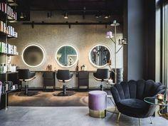 Home Decorating Trends 2018 Luxe Hair Salon, Hair Salon Interior, Salon Interior Design, Home Salon, Beauty Salon Design, Luxury Interior, Interior Design Inspiration, Beauty Shop Decor, Salons Cottage