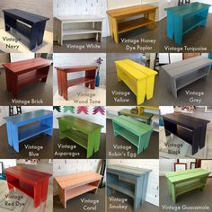Wooden Bench in Color of Your Choice Indoor Cottage Seating