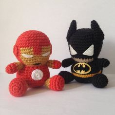 BATMAN Amigurumi Pattern SuperHero Layer Marvel by Amigurumeria - Visit to grab an amazing super hero shirt now on sale! Crochet Amigurumi, Amigurumi Patterns, Crochet Dolls, Crochet Patterns, Cute Crochet, Crochet Baby, Knit Crochet, Batman Crochet, Batman Amigurumi