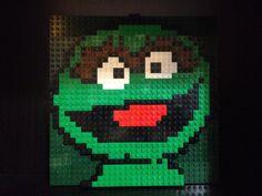Custom Lego Oscar The Grouch Mosaic 32x32 by C3Brix on Etsy