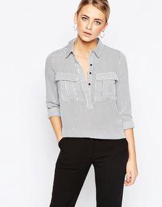 Image 1 ofOasis Vertical Stripe Shirt