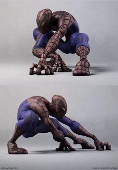 Spectacular Spiderman by Adam Sacco, via Behance - Inspired by Humberto Ramos