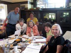 DES Action USA Board 2010 - The last meeting around Pat's dining room table. - With Michael Freilick, Litsa Varonis, Pat Cody, Fran Howell, Jill Vanselous Murphy, Kari Christianson.