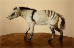 Hyracotherium, Eohippus, Prehistoric horse, dawn horse needle felted horse figurine ancient horse
