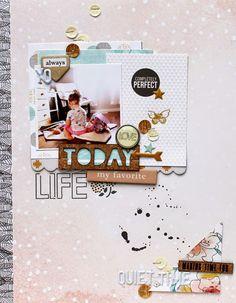 #Papercraft #Scrapbook #Layout. Random Ramblings...: December layouts with Gossamer Blue
