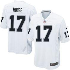 Youth Nike Oakland Raiders #17 Denarius Moore Elite White NFL Jersey Sale