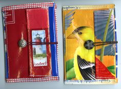 Sweet wallets and bags made out of old feed bags/recycled materials