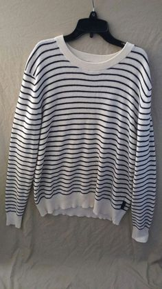 Burberry Brit Men's Cashmere Blend Pullover Striped Sweater Size XXL #BurberryBrit #BurberryCardiganSizeXXL #BurberrySweaterSizeXXL