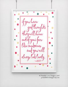 Good Thoughts  roald dahl print happy by PrintableLoveDesigns, $19.65