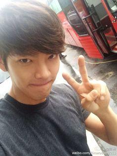 Watch Kim Woo Bin take on the ice bucket challenge -- he's so precious